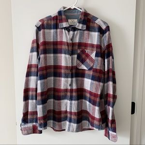 Flag & Anthem Flannel Plaid Button Down Gray